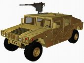 picture of humvee  - 3d computer render of an militay hummer - JPG