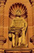 pic of samson  - Heidelberger Castle Ottheinrich building statue of Hercules - JPG