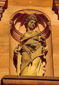 foto of samson  - Heidelberger Castle Ottheinrich building statue of Justice - JPG