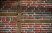 pic of timber  - timbered wall as part of a house - JPG
