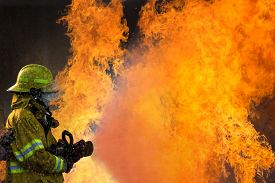 pic of firefighter  - Firefighters Training - JPG