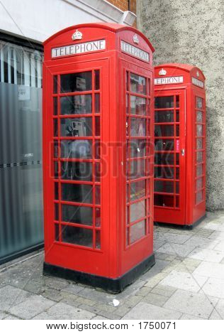 Old Red Gpo Phone Boxes