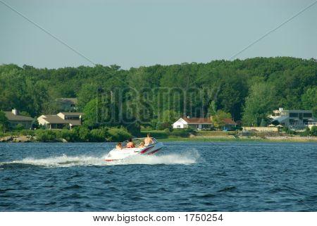 Bootfahren auf Muskegon Lake