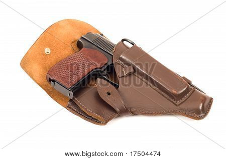 Handgun In Holster