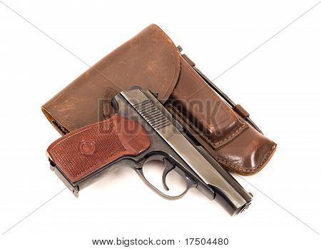 Russian 9Mm Handgun And Holster