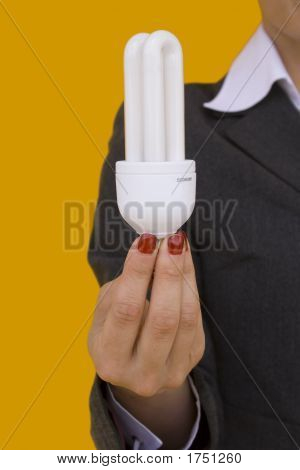Businesswoman Holding A Lamp 3
