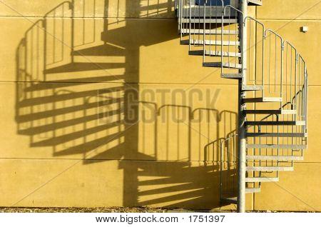 Treppen- und Schatten