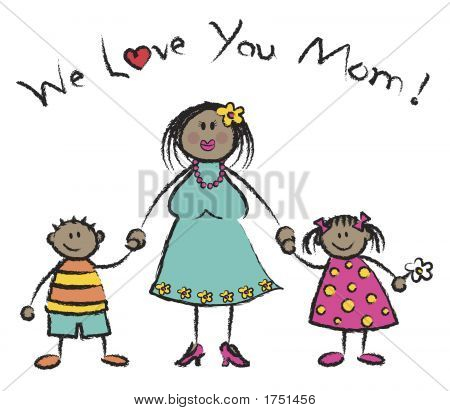 We Love You Mom tono de piel oscura