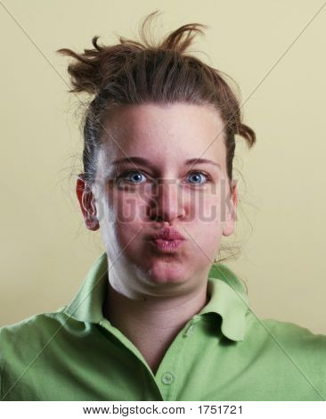 Funny Face Girl Portrait