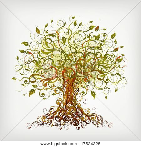 abstract floral tree