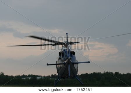 Back Of A Rescue Helicopter