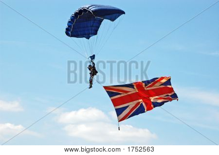 Parachute And Flag
