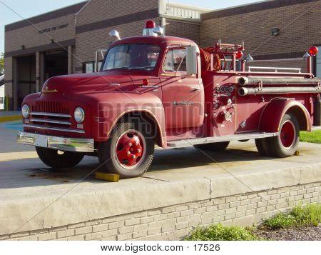 Antiken Feuerwehrauto
