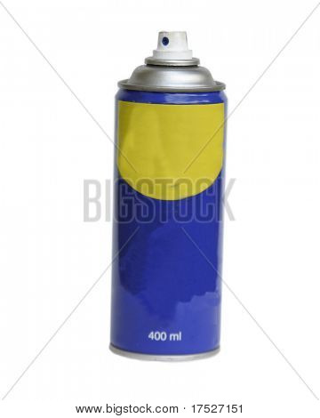 A spray can isolated on white with clipping path.