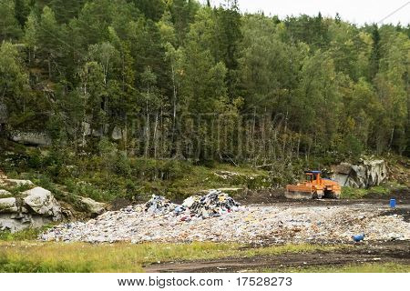 The garbage landfill near Oslo, Norway