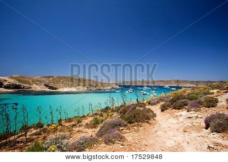 Comino island and the blue lagoon