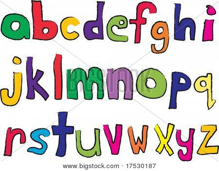 Child like lower case alphabet