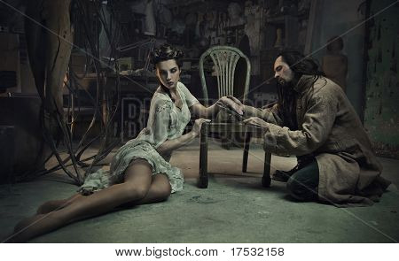 Fine art photo of  the series beauty and beast
