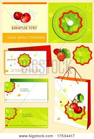 Abstract vector background set. Office elements and accessories. Collection _4