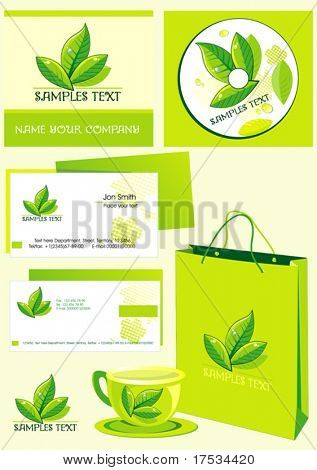 Office elements and accessories. Vector business set of secretarial things and supplies. Workplace with packet and mug. Collection _3