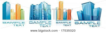 Collection of House vector Icons set for Web. Construction or Real Estate concept. Abstract architecture detailed element of corporate templates. Just place your name.