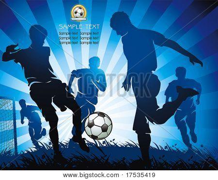 Aktion Fußballspieler. Original Vektor-Illustration Sport Serie. Abstrakte klassische Fußball poster