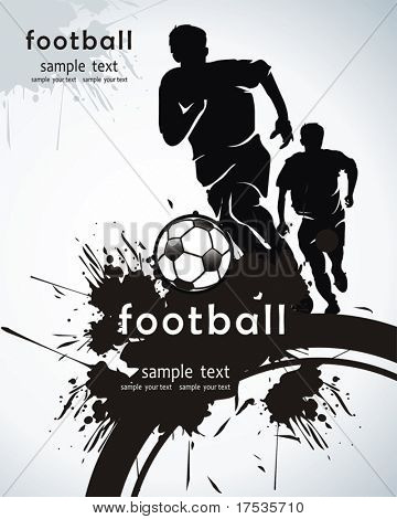 Soccer Action player. Isolated Team on white Background. Original Vector illustration sports series. Abstract Classical football poster
