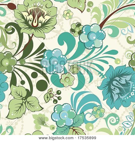 Beautiful flower seamless pattern, vector illustration texture