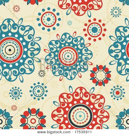 Stylish ornamental seamless pattern. Beautiful abstract vector illustration texture.