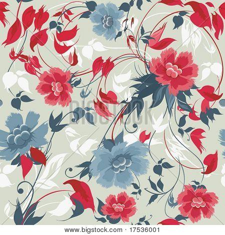 Elegance seamless floral pattern