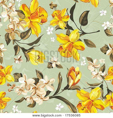 Stilvolle schöne helle floral seamless Pattern. Abstrakt Eleganz-Vektor-Illustration-Textur
