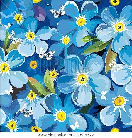Con estilo brillante floral transparente patrón hermoso. Textura de ilustración de vector de elegancia abstracto con