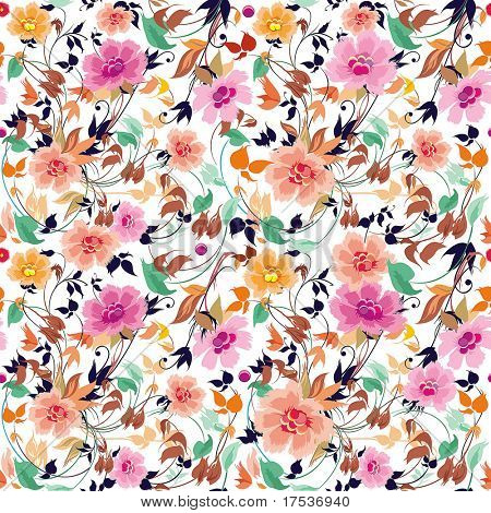 Elegance Seamless floral pattern on leaves theme