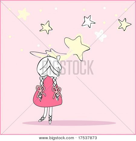 girl caught the falling star