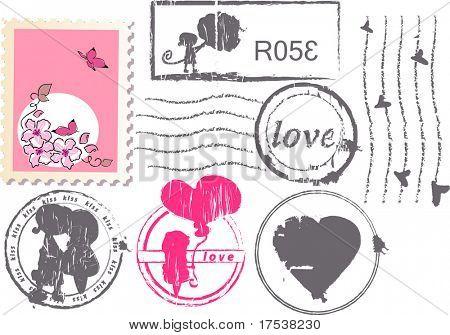 love postage set