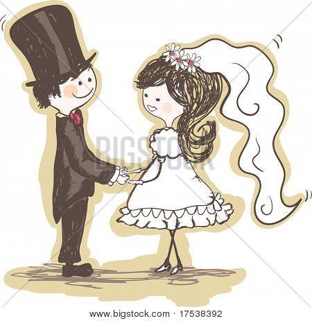 casal casamento mãos dadas