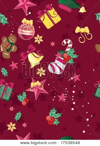 seamless background with chsristmas ornaments