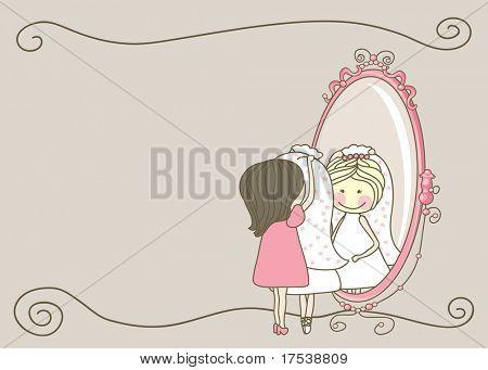 wedding set - bride and bridesmaid