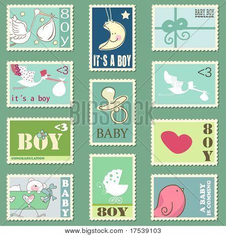 Baby Junge Briefmarken