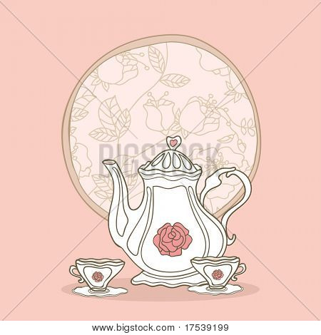 romantic tea set