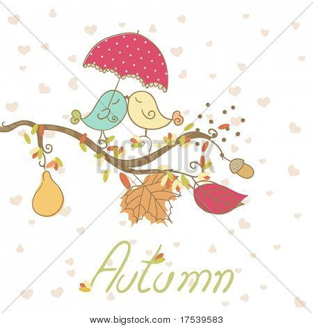 romantic autumn card