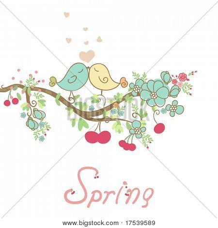 romantic spring card