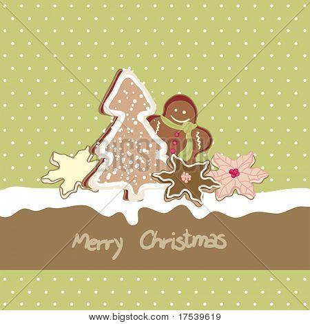 cartão de Natal com cookies