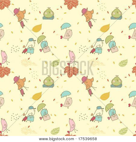 Vogel Migration seamless pattern