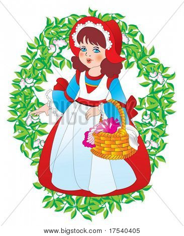 Vector Little Red Riding Hood