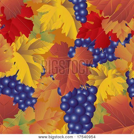 Raster version of vector grapes background (seamless pattern)