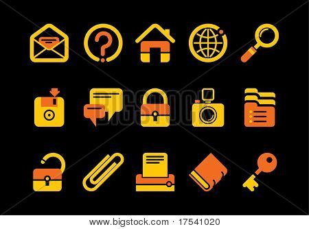 Vector website and internet icons Easy to edit, manipulate, resize or colorize