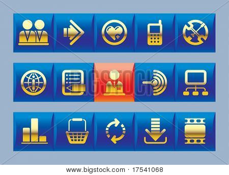 Vector website and internet icons