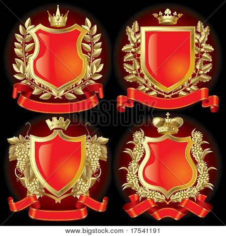 Raster-Version der Vector-Set gold heraldische Symbole (enthalten den Clipping-Pfad)