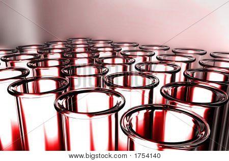 3D Render Test Tube For Health Science
